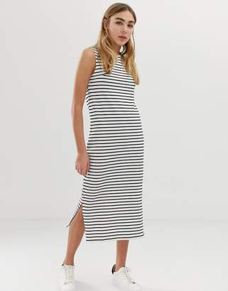 Jdy Sleeveless Striped Jersey Maxi Dress