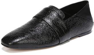 Vince Harris Crackled Flat Loafers
