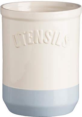 Mason Cash Bakewell Utensil Pot, Cream/Blue