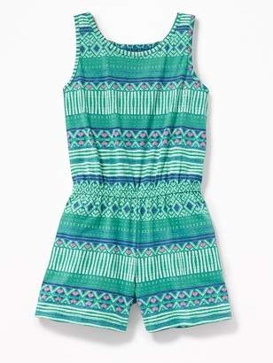 Old Navy Printed Jersey Racerback Romper for Girls