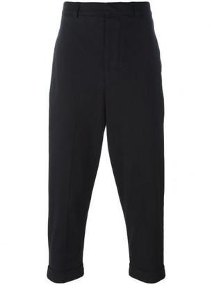 Ami Alexandre Mattiussi oversize carrot-fit trousers $275 thestylecure.com