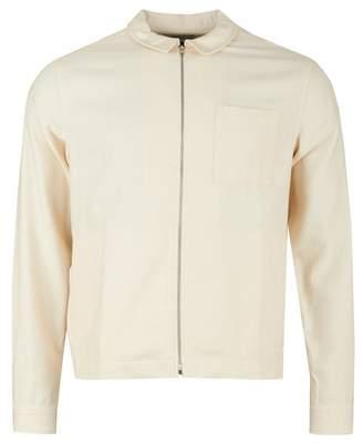 YMC Marl Flannel Bowie Zip Shirt