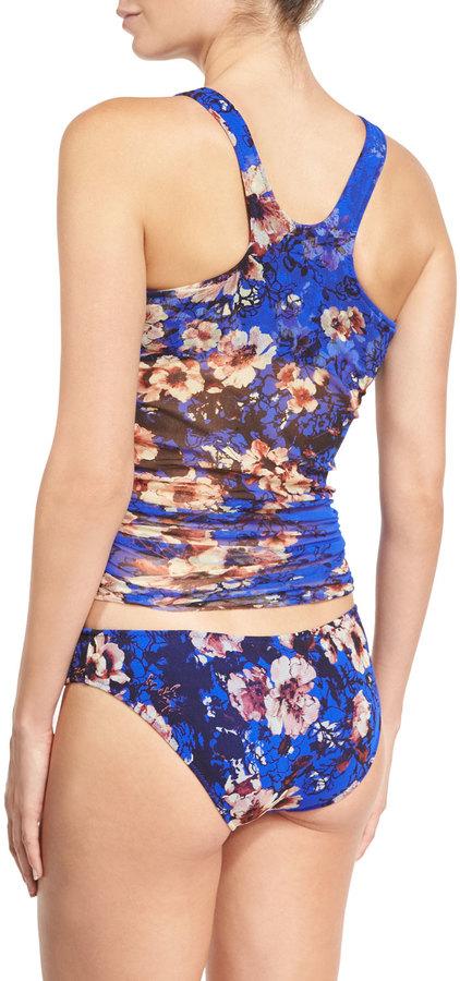 Fuzzi Floral-Print Tankini Swimsuit Set, Bluette 4