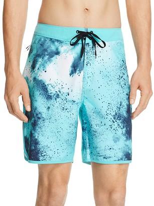 Hurley Phantom Burst Tie-Dye Print Board Shorts $65 thestylecure.com