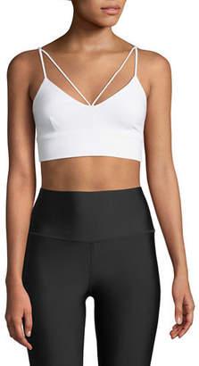 Alo Yoga Glisten V-Neck Strappy Sports Bra
