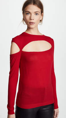 Michelle Mason Asymmetric Cutout Sweater