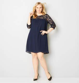 Avenue Lace Babydoll A-Line Dress