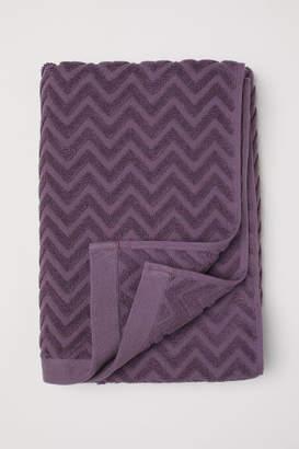 H&M Jacquard-patterned Bath Towel - Purple