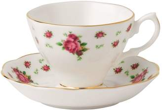 Royal Albert New Country Roses White Teacup and Saucer