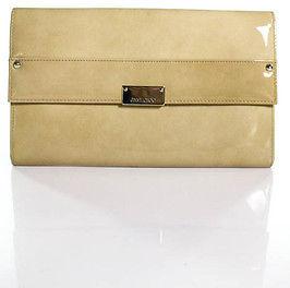Jimmy ChooJimmy Choo Beige Patent Leather Small Clutch Handbag IN BOX