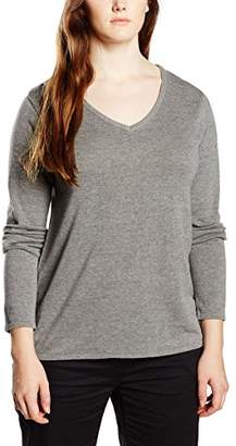 Sheego Women's Long Sleeve Jumper - Silver