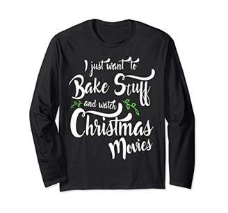Funny Cook Christmas Baking Long Sleeve Tee for Woman