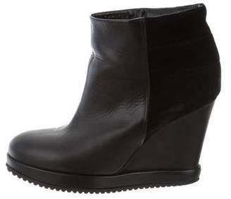 Surface to Air Leather Wedge Booties