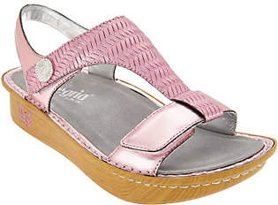 Alegria Leather Sandals with Adjustable Straps- Kendra