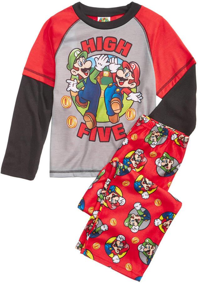Nintendo'sandreg; Mario Bros. 2-Pc. Pajama Set, Little Boys and Big Boys