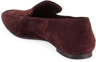 4be4b7e0f2b The Row Minimal Flat Suede Loafers