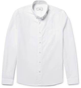 Ami Slim-Fit Button-Down Collar Cotton Oxford Shirt