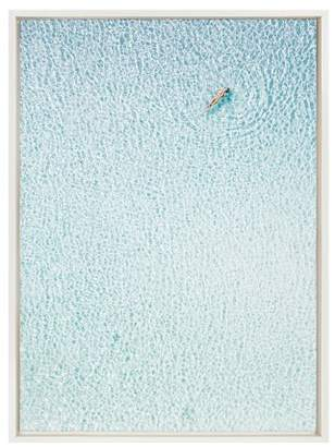 """Sylvie DesignOvation 23"""" x 33 Woman Floating Framed Canvas Wall Décor By Amy Peterson White"""