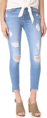 7 For All Mankind Step Hem Ankle Skinny Jeans $219 thestylecure.com