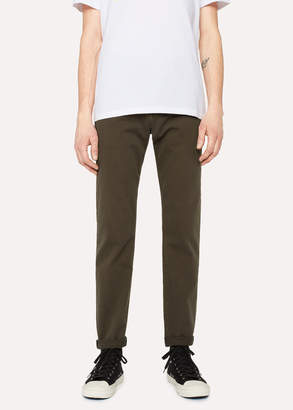 Paul Smith Men's Tapered-Fit Washed Khaki Garment-Dye Jeans