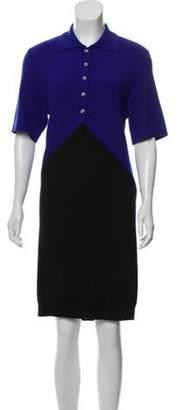 Balenciaga Colorblock Sweater Dress Blue Colorblock Sweater Dress