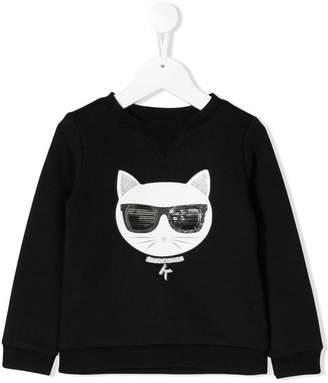 Karl Lagerfeld cat embroidered sweatshirt