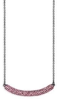 Jardin Embellished Curved Bar Pendant Necklace