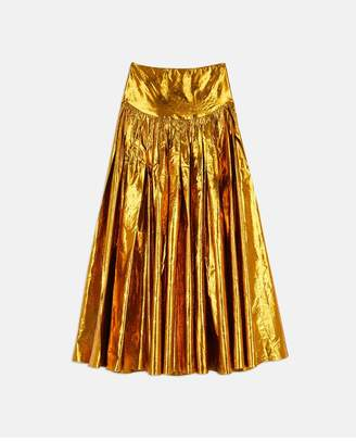 Stella McCartney Cynthia Gold Jacquard Skirt