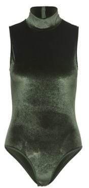 Only High Neck Velvet Bodysuit