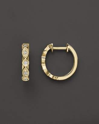 KC Designs Bezel Set Diamond Hoops in 14K Yellow Gold, .12 ct. t.w.