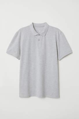 H&M Short-sleeved Polo Shirt - Gray