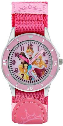 Disney Princess Disney Princess Dial Pink Velcro Strap Kids Watch