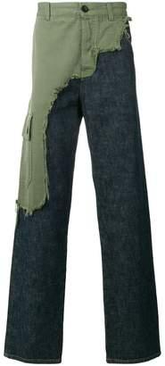 Loewe asymmetric cargo jean trousers