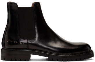 Common Projects Black Lug Sole Chelsea boots