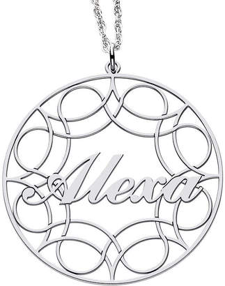 JCPenney FINE JEWELRY Personalized Sterling Silver Name Pendant Necklace
