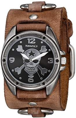 Nemesis Men's 906BFRB-KK Cross Bone Series Analog Display Japanese Quartz Brown Watch
