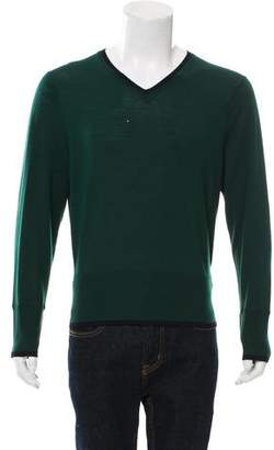 Black Fleece Wool-Blend V-Neck Sweater
