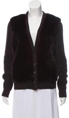 Salvatore Ferragamo Mink-Trimmed Cashmere Sweater