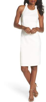 Vince Camuto Sleeveless Ruffle Back Sheath Dress