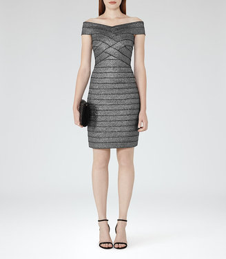 Hartley Bodycon Metallic Dress $370 thestylecure.com