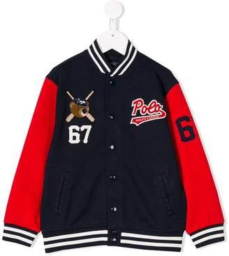 Ralph Lauren color block varsity jacket