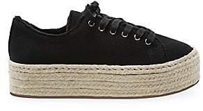 Schutz Women's Luana Raffia Flatform Sneakers
