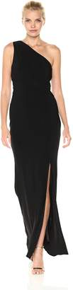 Laundry by Shelli Segal Women's One Shoulder Jersey Gown with Waist Twist