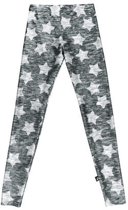Terez Heathered Star-Print Leggings, Size 7-16
