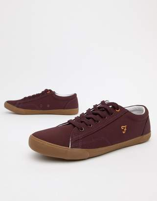 Farah Brucey Canvas Sneakers in Burgundy