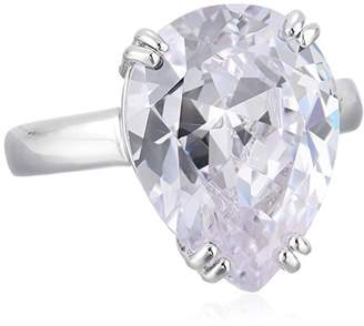 Kenneth Jay Lane CZ by Special Occasion Pear Cubic Zirconia Glamorous Adjustable Ring