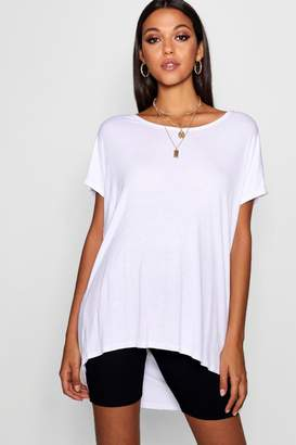 boohoo Tall Oversized Scoop Neck Tee