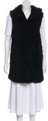 Theory Longline Faux Fur Vest