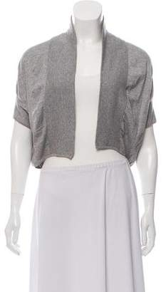 Theory Cropped Open Front Cardigan