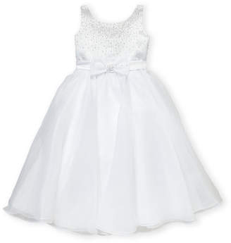 Joan Calabrese For Mon Cheri (Girls 7-16) White Embellished Bodice Dress